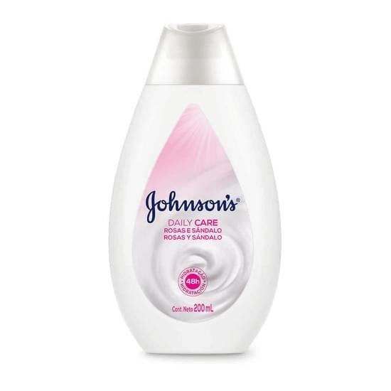Imagem de Loção corporal hidratante johnson johnson 200ml rosas e sândalo