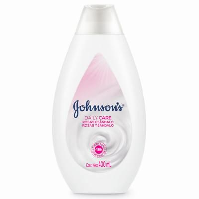 Imagem de Loção corporal hidratante johnson johnson 400ml rosas e sândalo