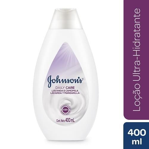 Imagem de Loção corporal hidratante johnson johnson 400ml lavanda e camomila