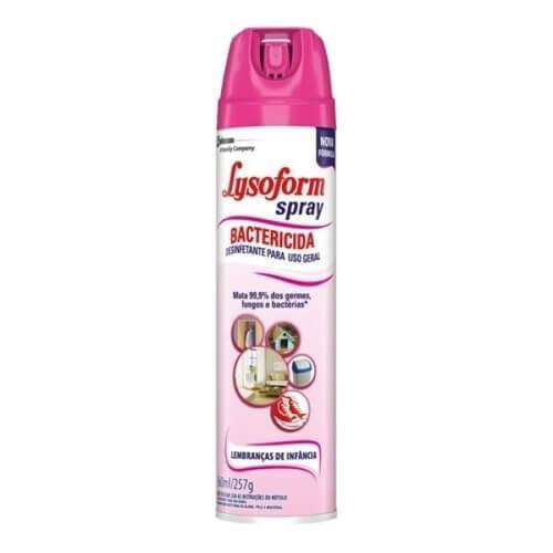 Imagem de Desinfetante uso geral lysoform 360ml aerosol lembranças da infancia