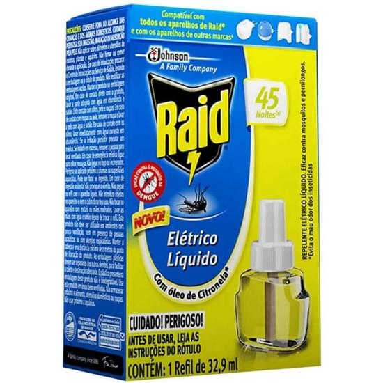 Imagem de Inseticida elétrico raid 32,9ml refil 45 noites óleo citronela