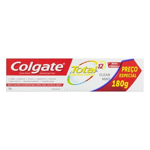 Imagem de Creme dental terapeutico colgate 180g total 12 clean mint