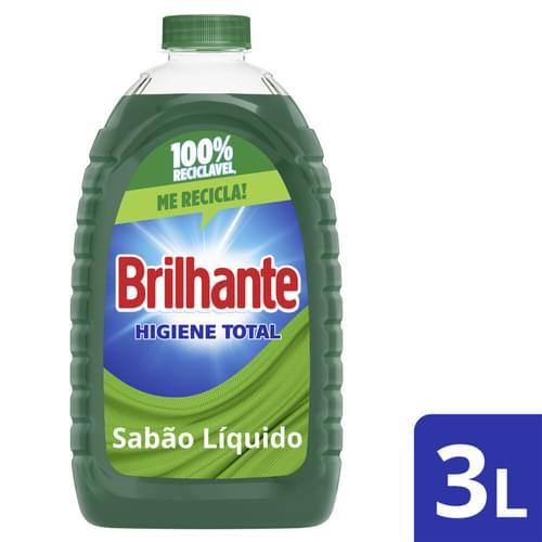 Imagem de Lava-roupas líquido brilhante 3l higiene total