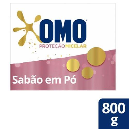 Imagem de Detergente em pó omo 800g proteção micelar sem perfume
