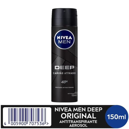 Imagem de Desodorante aerosol nivea 150ml deep original