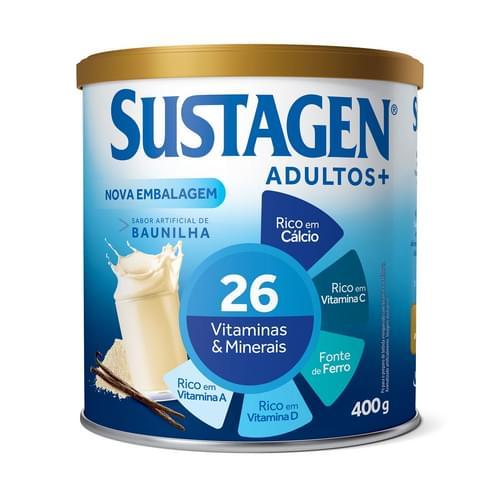 Imagem de Suplemento alimentar lata sustagen 400g baunilha