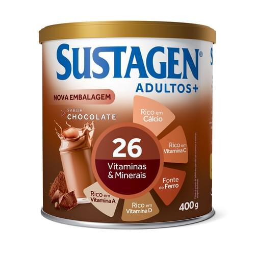 Imagem de Suplemento alimentar lata sustagen 400g chocolate