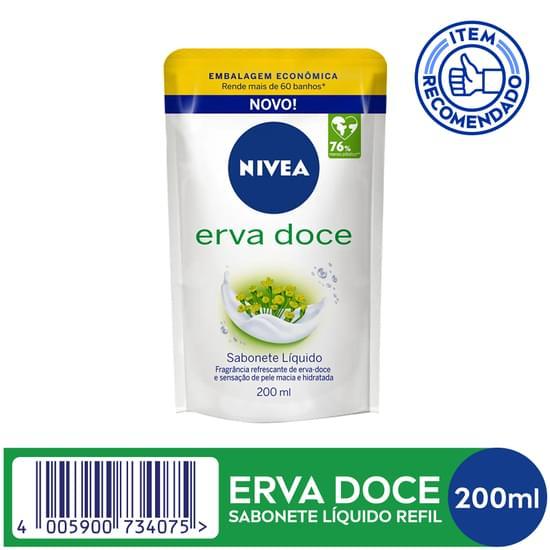 Imagem de Sabonete líquido uso diário nivea 200ml erva doce refil