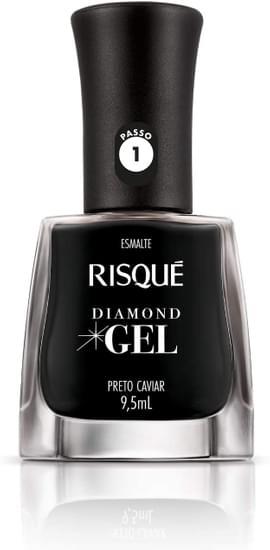 Imagem de Esmalte gel risqué 9,5ml preto caviar cremoso