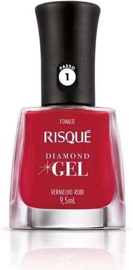 Imagem de Esmalte gel risqué 9,5ml vermelho rubi cremoso