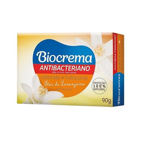 Imagem de Sabonete em barra bactericida biocrema 90g flor de hibisco
