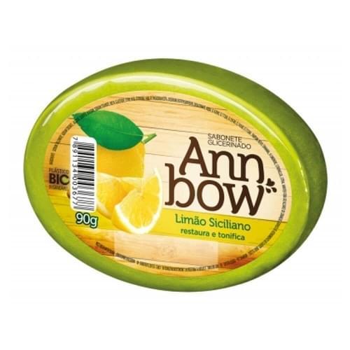 Imagem de Sabonete em barra glicerinado ann bow 90g limão siciliano