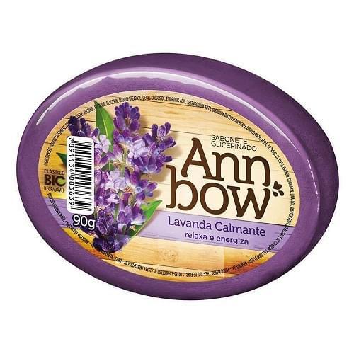 Imagem de Sabonete em barra glicerinado ann bow 90g lavanda calmante