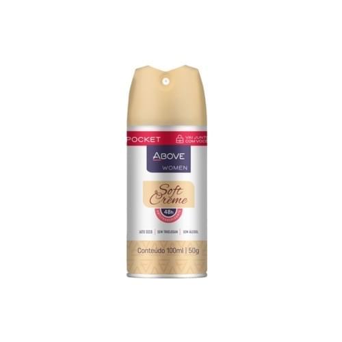 Imagem de Desodorante aerosol above 100ml feminino pocket soft creme