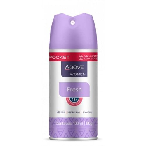 Imagem de Desodorante aerosol above 100ml feminino pocket fresh