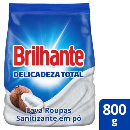 Imagem de Detergente em pó brilhante 800g cuidado do coco pacote