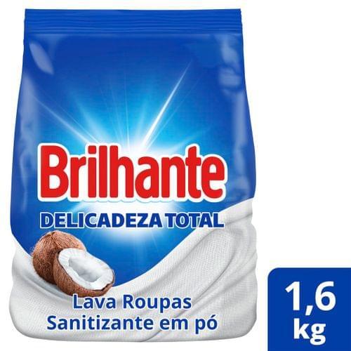 Imagem de Detergente em pó brilhante 1,6kg cuidado do coco pacote