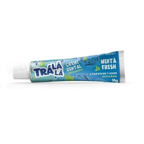 Imagem de Creme dental gel trá lá lá 70g menta fresh