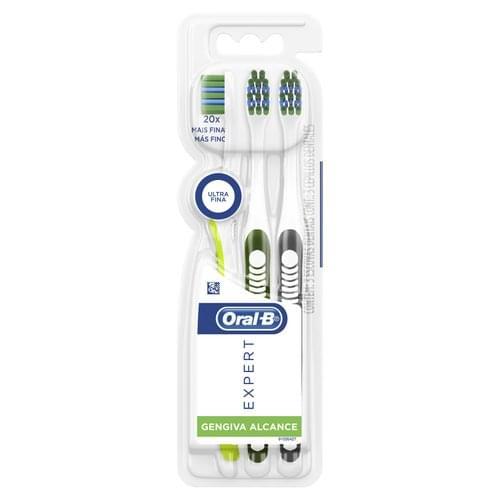 Imagem de Escova dental ultramacia oral-b c/3 expert gengiva alcance