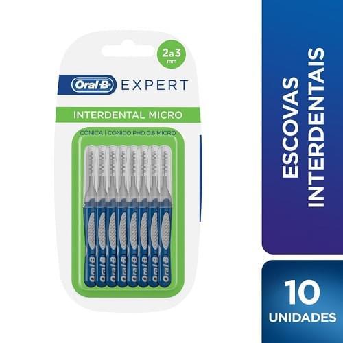 Imagem de Escova dental interdental oral-b c/10 expert interd.cônica 0.8 micro