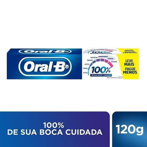 Imagem de Creme dental tradicional oral-b 120g 100% menta refrescante lv+pg-