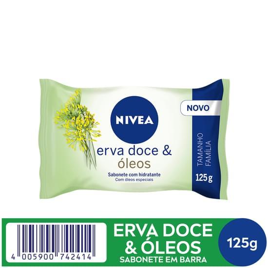 Imagem de Sabonete em barra uso diário nivea 125g erva doce
