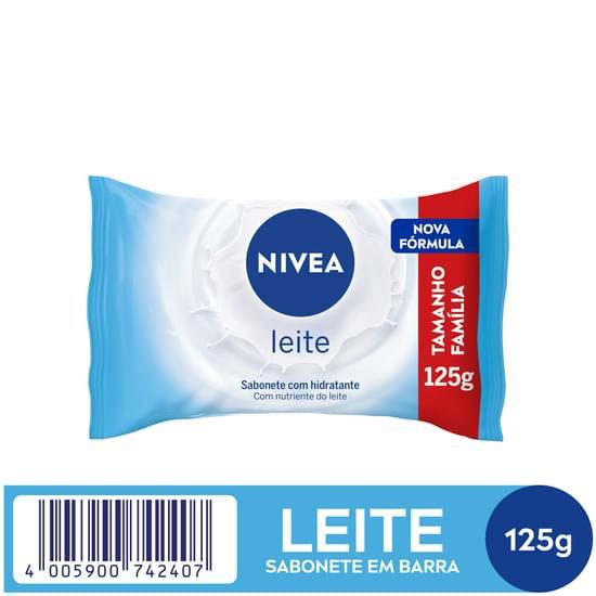 Imagem de Sabonete em barra uso diário nivea 125g leite