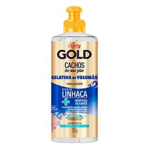 Imagem de Finalizador em creme niely gold 250g gelatina volumão