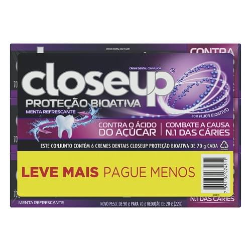 Imagem de Creme dental tradicional close-up 70g bioativa anti caries