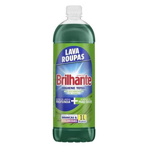 Imagem de Lava-roupas líquido brilhante 1l higiene total refil