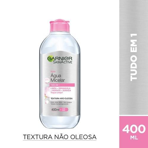 Imagem de Água micelar demaquilante garnier skin 400ml pink