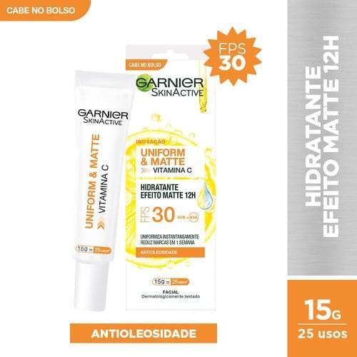 Imagem de Creme facial hidratante garnier skin 15g efeito matte