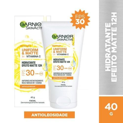 Imagem de Creme facial hidratante garnier skin 40g efeito matte