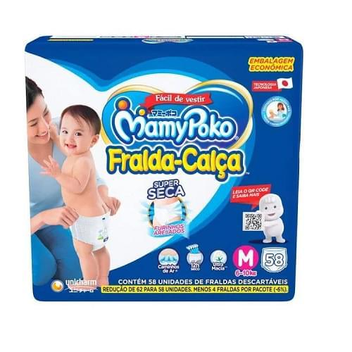 Imagem de Fralda infantil mamypoko c/58 hiper m azul