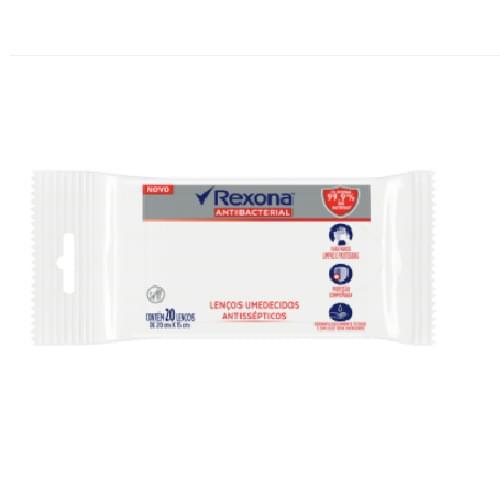 Imagem de Lenço umedecido antisséptico rexona c/20 antibac