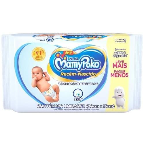 Imagem de Lenço umedecido sache mamypoko c/100 recém nascido