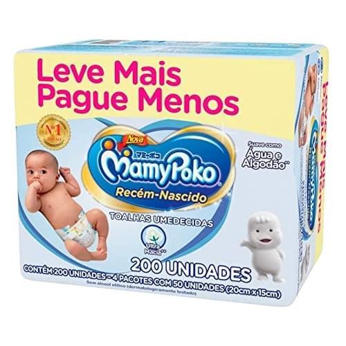 Imagem de Lenço umedecido sache mamypoko c/200 recém nascido