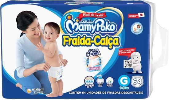 Imagem de Fralda infantil mamypoko c/64 sp g
