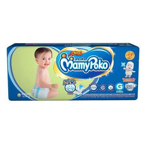 Imagem de Fralda infantil mamypoko c/30 g fita azul