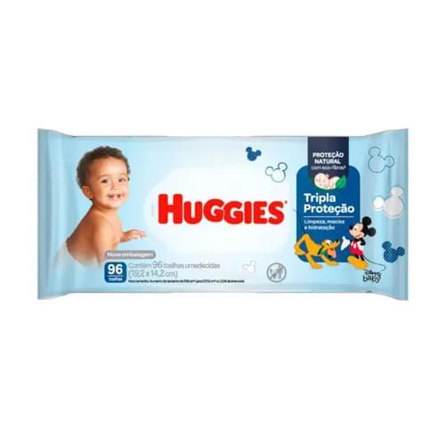 Imagem de Lenço umedecido sache huggies c/96 tripla proteção  gd