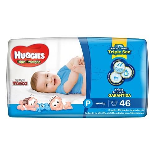Imagem de Fralda infantil huggies c/46 tripla proteção  pq