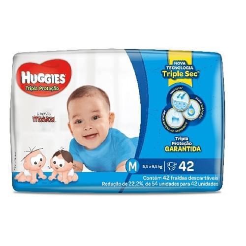 Imagem de Fralda infantil huggies c/42 tripla proteção  md