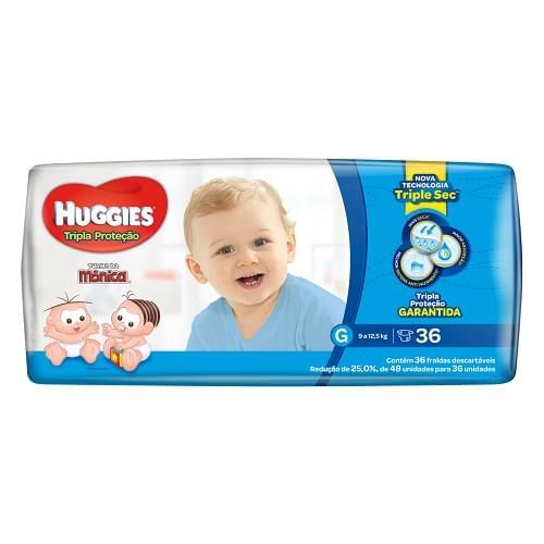 Imagem de Fralda infantil huggies c/36 tripla proteção  gd