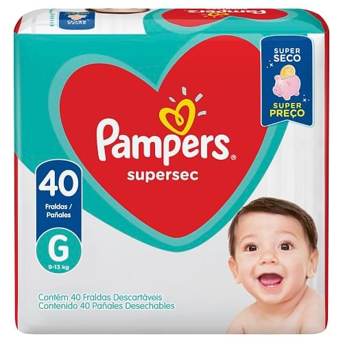 Imagem de Fralda infantil pampers supersec c/40 g