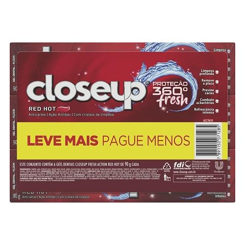 Imagem de Creme dental gel close-up 90g red hot l+p-