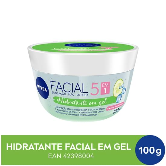 Imagem de Creme facial hidratante nivea 100g fresh em gel unit