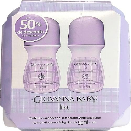 Imagem de Desodorante roll-on giovanna baby 50ml lilac c/2