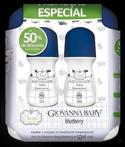 Imagem de Desodorante roll-on giovanna baby 50ml blueberry c/2