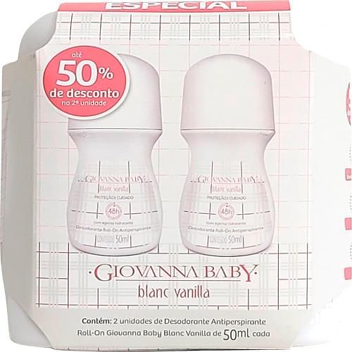 Imagem de Desodorante roll-on giovanna baby 50ml blanc vanilla c/2