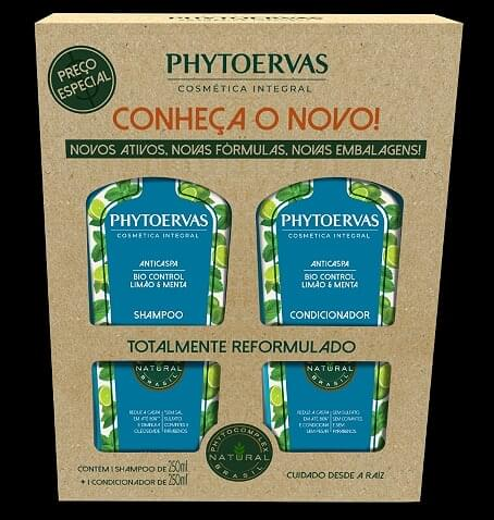 Imagem de Kit sh + co phytoervas 250ml anti caspa